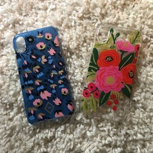 iPhone X cases! Like new!